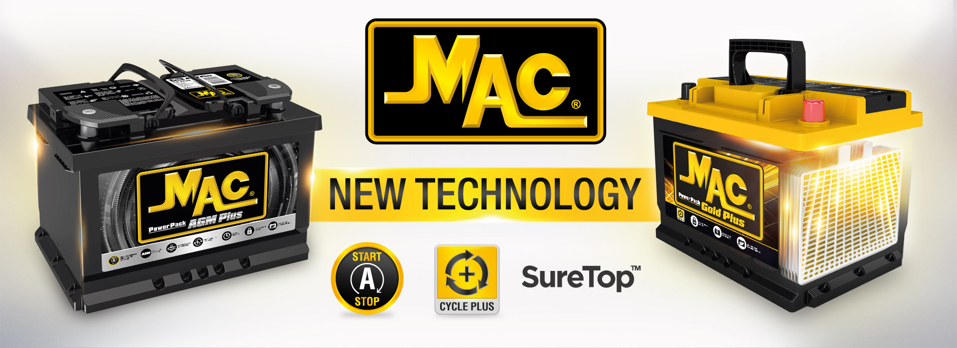 New Technology - Mac AGM Plus and Gold Plus batteries