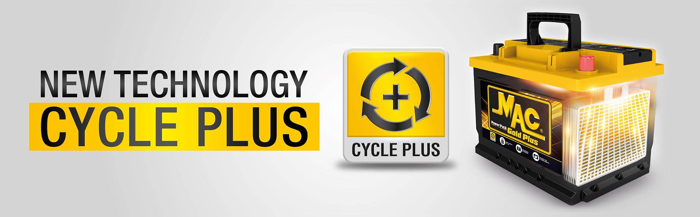 New Technology Cycle Plus batteries